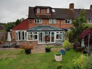 LivinRoof Conservatory Project with Sliding Patio Doors