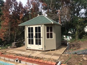 10x8 Summerhouse Installation in Woodmancote - Rogers