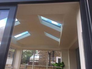 4m x 3m LivinRoof Conservatory Interior of Partially Glazed Roof - West