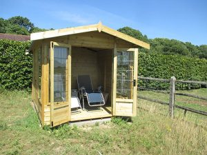 Front View of Malvern Newland 12x8 Summerhouse - King-Tours