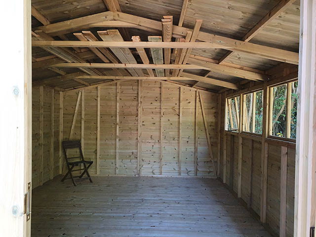 Malvern Stanford Apex Workshop Style Shed - McLeod