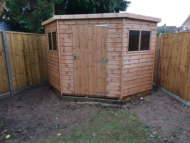 Regency Corner Shed Installation - Daly