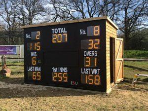 Regency Premiere Pent Shed Billinghurst Cricket Club Bespoke Scoreboard
