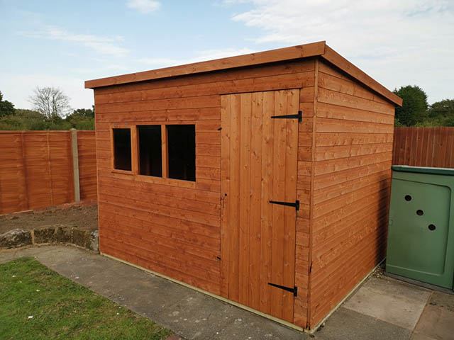 10x8 Deluxe Shed Installed in Ashington - Child
