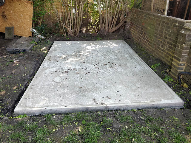 12 x 8 Concrete Base for New Shed - King