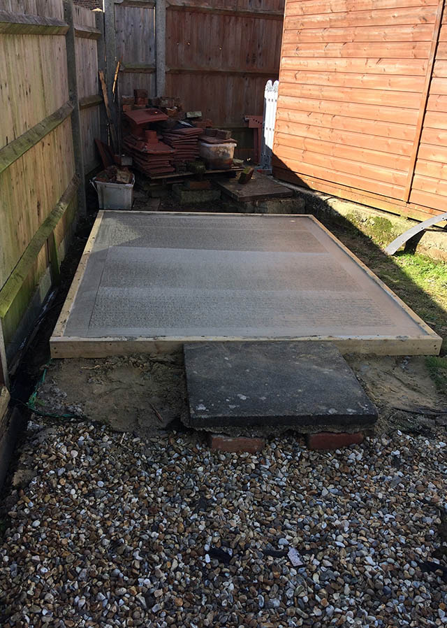 8x6 Garden Shed Base in Ashington West Sussex - Child