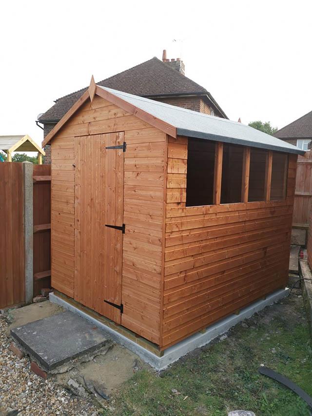 8x6 Garden Shed Installation in Ashington - Child