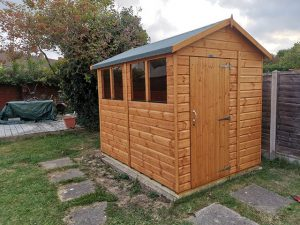 8x6 Power Shed Installation in Crawley - Dunn