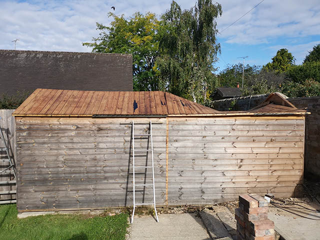 Damaged Shed that we Replaced - Leadbeater