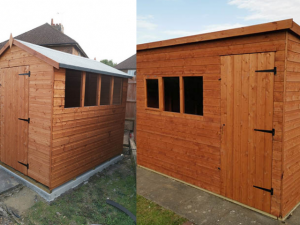 Double Shed Installation in Ashington