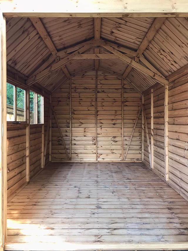 Regency Barn Interior 12 x 8 - Hill