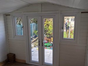 Internal View of PVCU Doors Fitted to Bespoke Summerhouse - Valder
