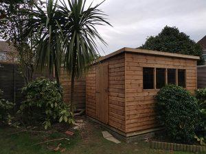 Notton Pent 10x8 Installation in Horsham - Riley
