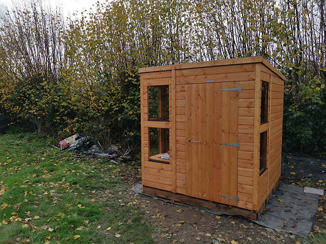 Allotment 6x6 Power Potting Shed Installation - Davis