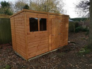 Copus Powershed Pent 10x6 Shed Installation in Cranleigh