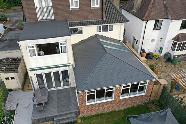 Large UltraTile380 Conservatory Style Extension in Horsham West Sussex 2