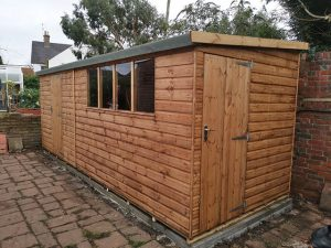 Notton Pent Shed Installation in Shoreham - Rathbone
