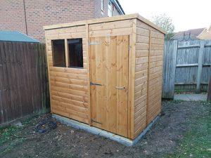 Powershed Pent 7x5 Installation - Young