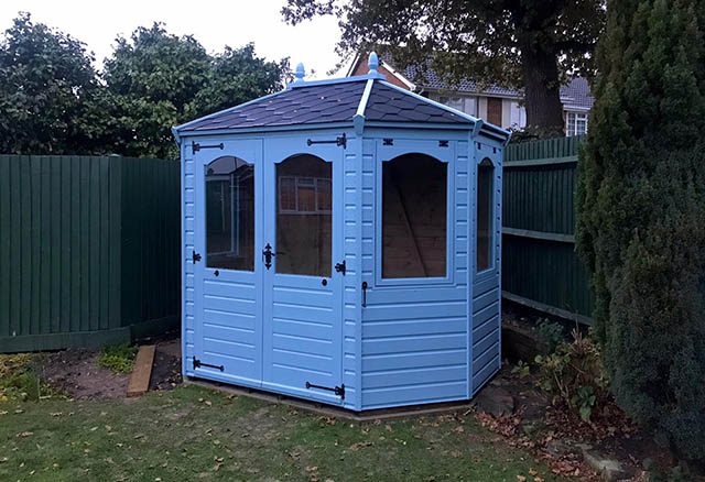 Regency Wingrove 8 x 6 Summerhouse in Morning Blue - Green