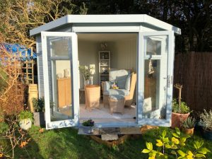 Malvern Corner Studio 8x8 Summerhouse in Pressure Treated 19mm - Nugent