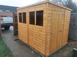 Powerpent 8x6 Shed Installation in Crawley - Kansagra