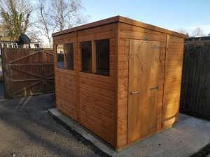 Powershed Pent Shed Installation in Horsham West Sussex - Trehearn