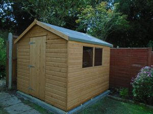 8ft x 8ft Garden Shed - Whitear