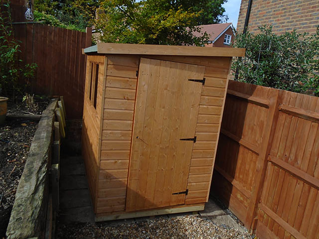 Albany Suffolk Pent Shed Installation in Crawley West Sussex - Ward