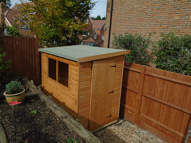 Albany Suffolk Pent Shed Supplied and Installed - Ward