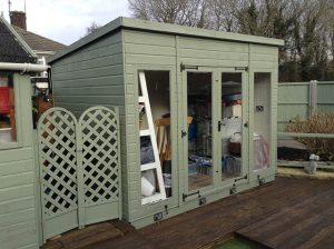 Bespoke Pent Storage Building with Glass to Ground Doors - Friday