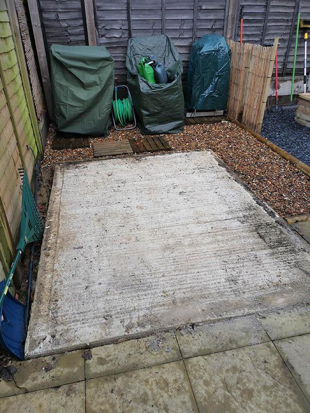 Broadbridge Heath Concrete Shed Base Installation - Smith
