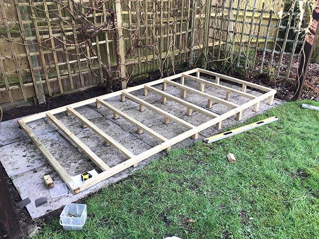 10x5 Shed Timber Frame Base - Gunning