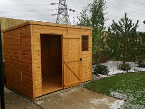 Door Open Power Shed 8x6 - Clark