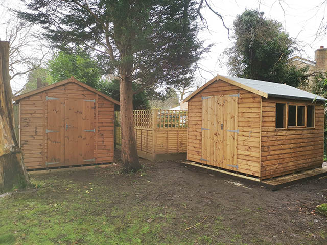Double Cawthorne Shed Installation - Burr