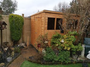 Install of a Power Pent 8x6 Shed - Barnett