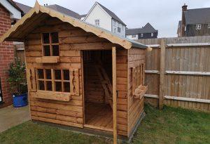 Lumberjack Playhouse 7x5 Door Open - Flower