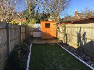 Malvern Bewdley Pent Shed Installation in Horsham