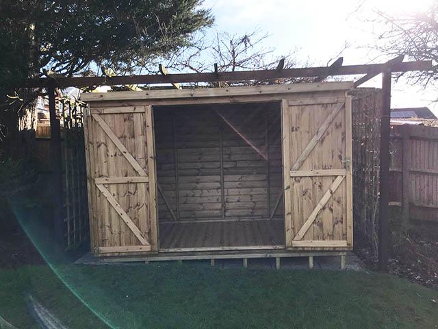 Notton Pent 10x5 Shed Installation - Gunning