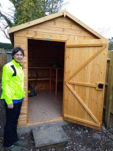 Powershed Apex 8x6 Installation in Warnham - Elliott