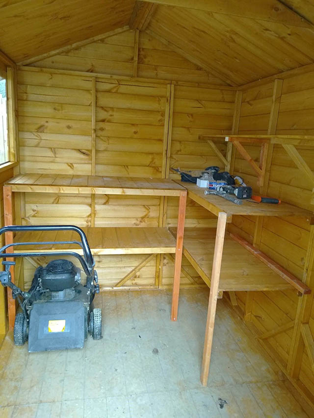 Powershed Apex 8x6 Shed with Shelving - Elliott