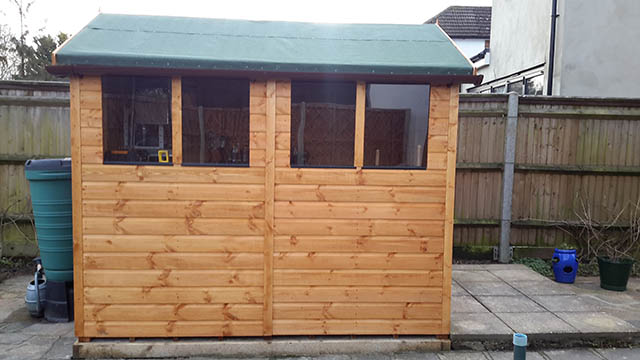Powershed Apex Shed Installation in Horley - Whitmore