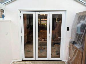 Triple Bifold Doors in White UPVc - Webb