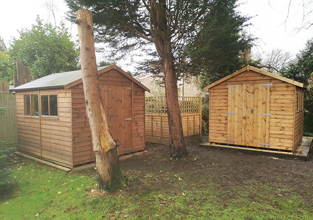 Two 10x8 Cawthorne Shed Installs - Burr