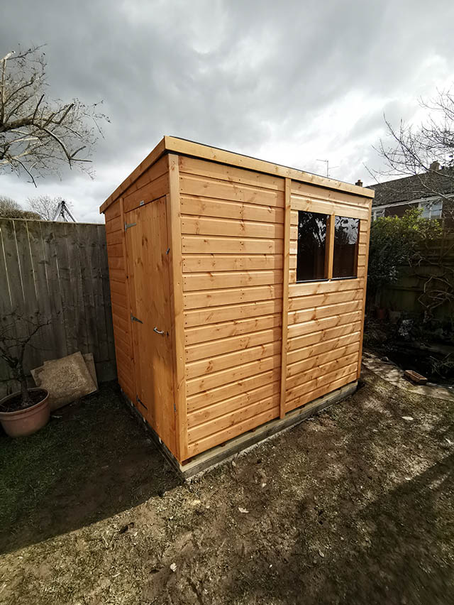 7x5 Pent Powershed Installation in Horsham - Innes