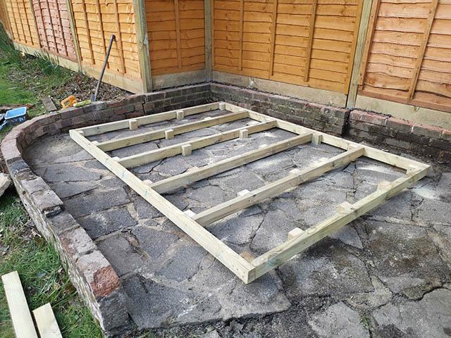 8x6 Timber Base for Garden Building - Finan