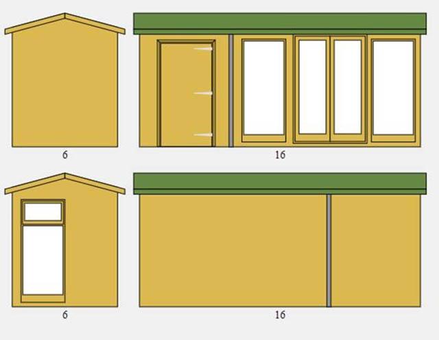 Cedar Studio Pavilion 16x6 Design Plan Drawing - Pellerito