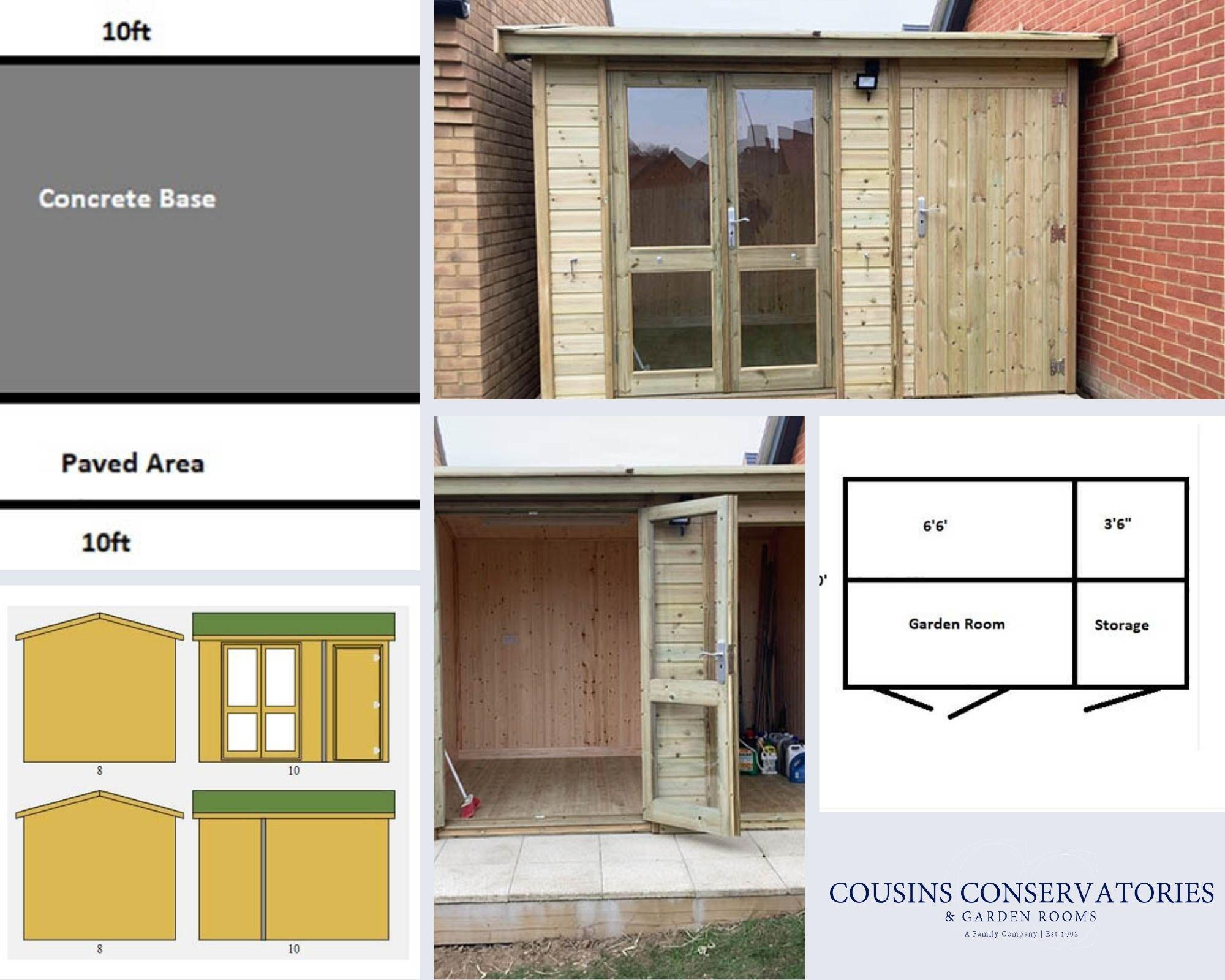 Collage Arley Pavilion Summerhouse with Side Shed - Richardson