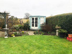 Copeland Corner Summerhouse Installation in Dorking Surrey - Goodship
