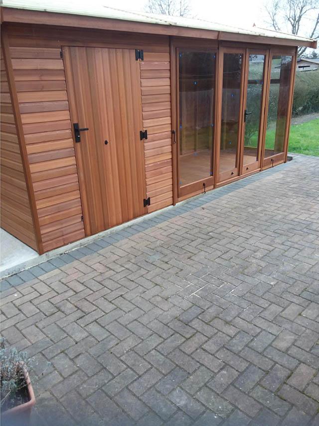 Exterior of a Cedar Studio Pavilion 16x6 - Pellerito