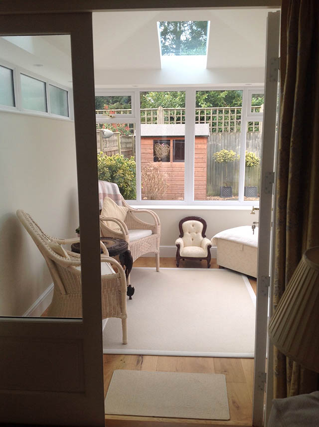 Interior Picture of a Livin Roof Conservatory in Horsham - Gilchrist